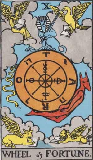 RWS_Tarot_10_Wheel_of_Fortune-2
